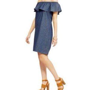 FADED GLORY Dress Chambray size Large